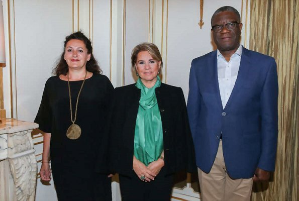 Grand Duchess Maria Teresa attended a working meeting with Denis Mukwege and Céline Bardet organization