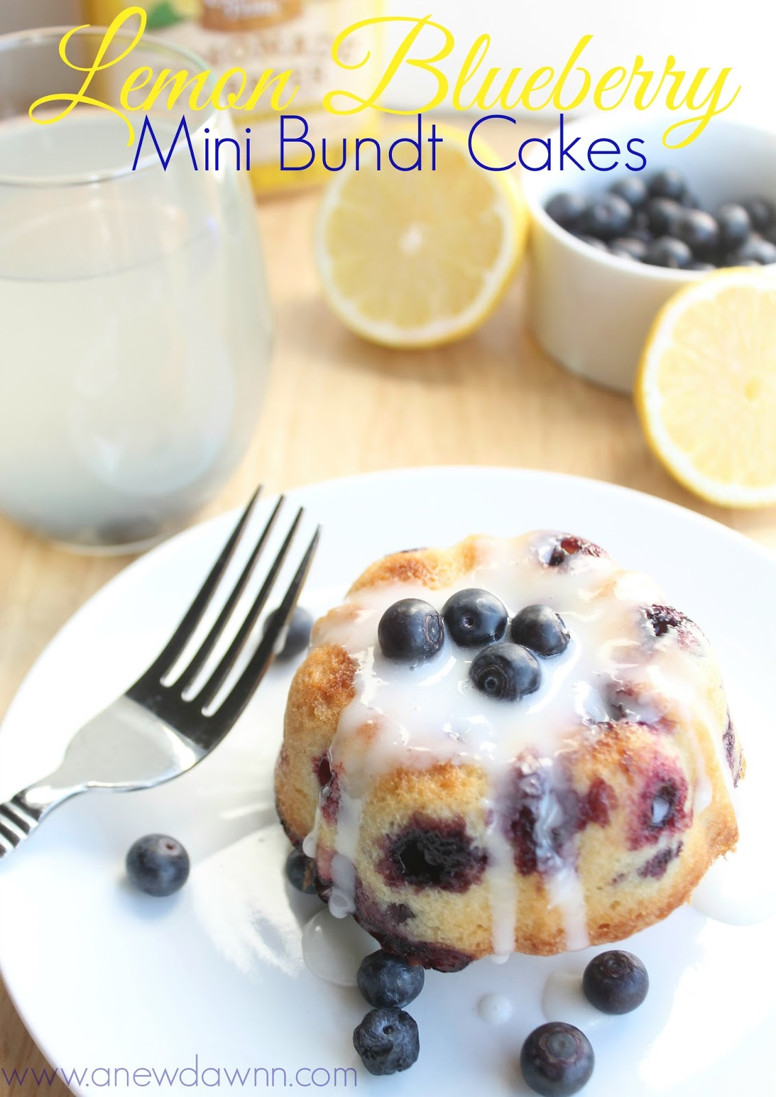 Think Spring With These Delicious Lemon Blueberry Mini Bundt Cakes