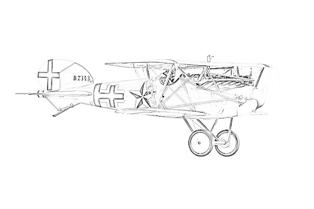 biplanes coloring pages coloring.filminspector.com German Albatros