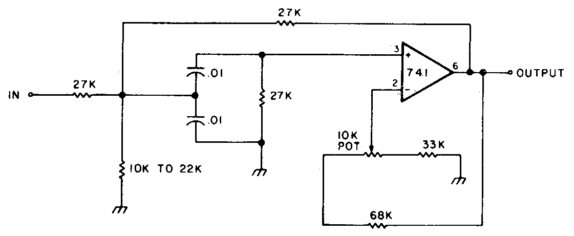 variable bandwidth bandpass active filter circuit