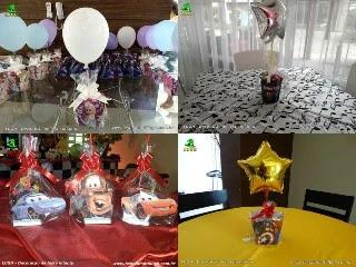 Enfeites de centro para mesas dos convidados