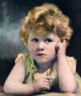 Queen Elizabeth II as a toddler, from the cover of Time Magazine in 1029