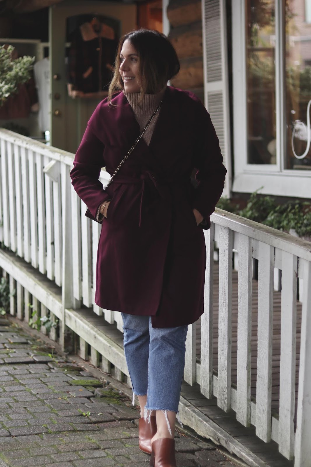 le chateau cashmere like wrap coat outfit blogger cute fall look