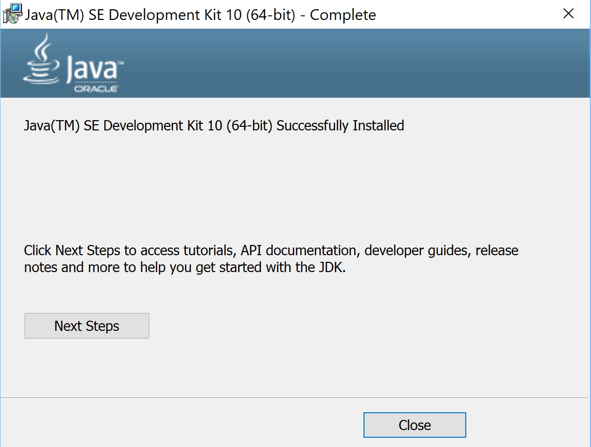 How to install java in windows 10 install java jdk 10 tutorial installation is complete baditri Choice Image