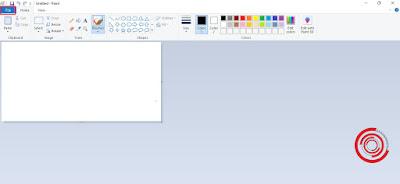 1. Langkah pertama silakan kalian buka aplikasi Paint lalu pilih menu File