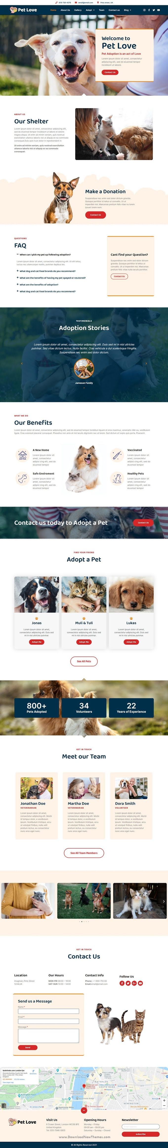 Animal Shelter Elementor Template Kit