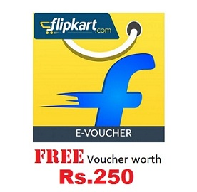 Flipkart FREE e-Gift Voucher worth Rs.250 on Purchase of e-Gift Voucher worth Rs.4000 (Offer Valid on Flipkart App till 29th Aug'15)
