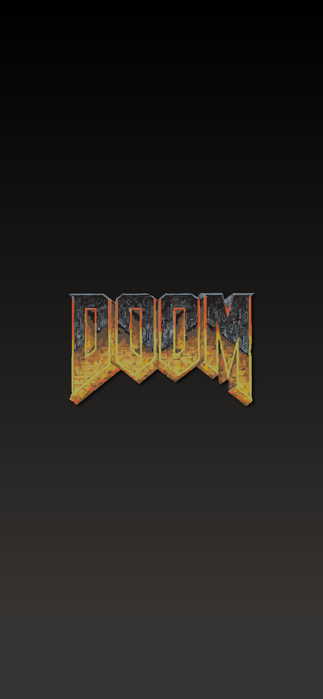 DOOM LOGO WALLPAPER FOR MOBILE PHONE