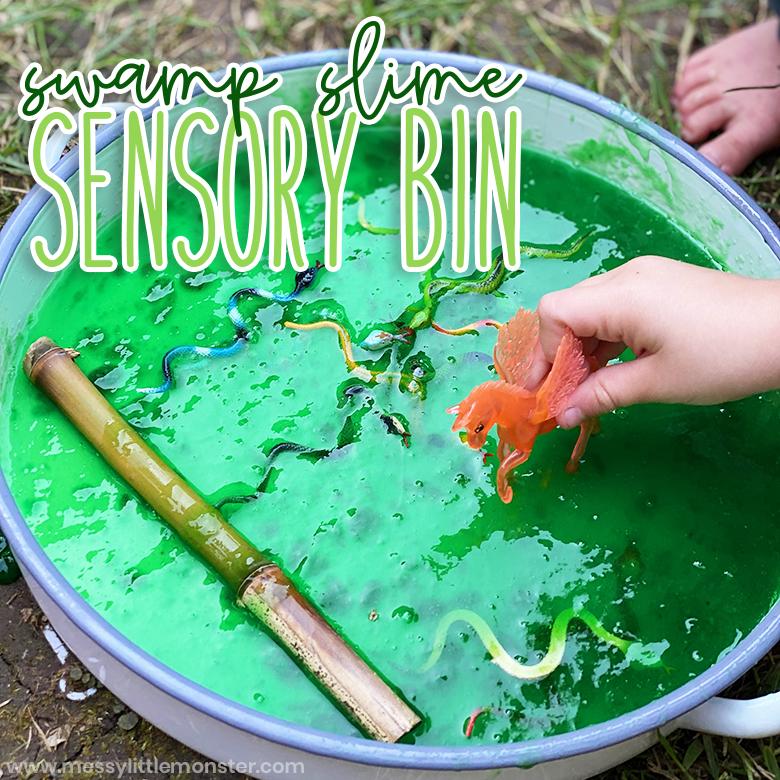 Slime sensory bin