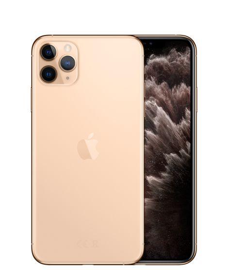 هاتف ابل ايفون 11 برو ماكس مع فيس تايم بشريحة واحدة وشريحة الكترونية - ذاكرة تخزين 256 جيجا، ذاكرة وصول عشوائية 4 جيجا، شبكة ال تي اي من الجيل الرابع - ذهبي