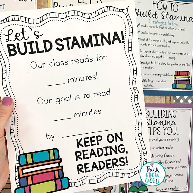 building stamina lesson for first 20 days of reading