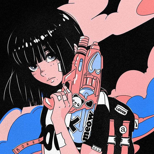 Ilustrações estilo anime aesthetic tumblr