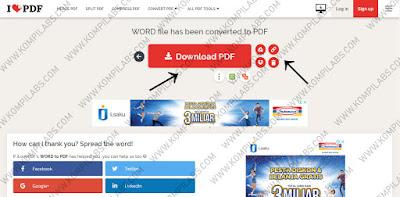 Cara mengubah atau convert Word ke PDF dengan mudah