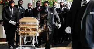 Funeral por George Floyd. Foto: elpais.com