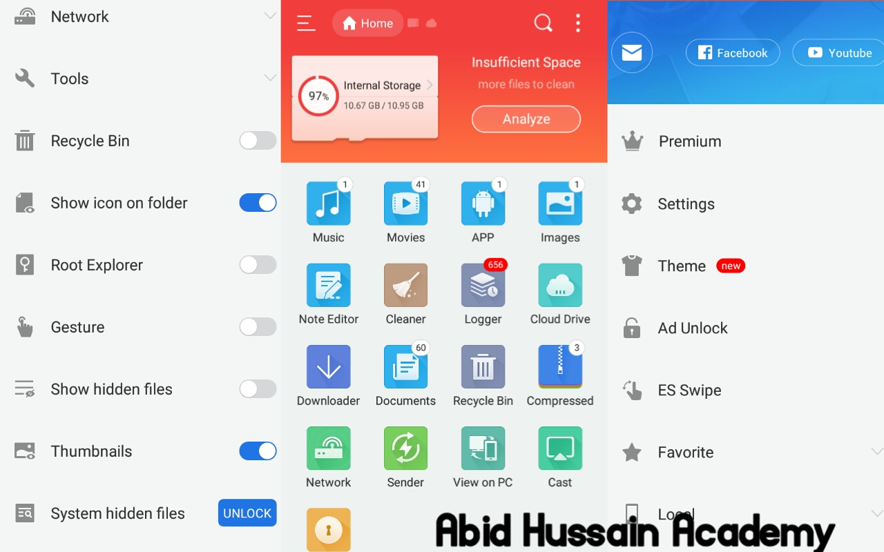 What is Es File Explorer App is it best to Use?   # What is Es File Explorer?  Es file explorer is a Android app. Es File Explorer App is a File Manager for Android users and Es File Explorer App has many other useful features like Note Editor, RECYCLE BIN  Files Compressed, Encrypted and other. Es File Explorer is Best File Manager and also Es file explorer is a Virus Scanner and Cleaner. Es file explorer is powerful tool for android devices that can help Android users to use his phone easily.   # How to Use Es File Explorer? Es file explorer is a Easy to use App for Android Users. You can play your videos audio in Es File Explorer App. First of all if you want to intrested in Es File Explorer App so open your play store app on your mobile phone then click on the search tab on play store. type Es File Explorer in play store search bar. Then click on Es File Explorer App and install it on your Phone. After you install open app and allow all permissions. Then you can see all of tools like SD card, Phone Storage, Note Editor, RECYCLE BIN, Storage analyzer, and other. There are at least 25 useful tools in Es File Explorer App. Es file Explorer Tool give you file manager interface like Computer. Here is list of all tools and full information.   # Here is List of Some Useful Tools in Es File Explorer  ## Audio Videos, Apk and images  Es file explorer have many tools but first four tools is  audio video app and images. You can see all your audio in audio tools and all apps in apps tool all video files in video tools and all images in images tool. Es File Explorer also gives you interface like your file manager. You can copy paste your files into SD card or phone Storage. You can copy paste or move your files into your SD card or phone storage easily in Es File Explorer.   ## Note Editor  Es file explorer provide you Note Editor. You can Edit any text file . You can also Edit Your Blogger XML Theme. In this Note Editor you can create dot Txt file means if you write your text and you want to save this text so file explorer is also gives you a txt file Saving option. Es note editor is same like the computer notepad. You can search and replace sentences in Es note Editor.   ## Cleaner  This is another useful tool in Es File Explorer App. In this tool you can cleen your phone from viruses or junk files. Also you can find harmful files using Es files explorer Cleaner and one click you can remove harmful viruses.   ## Logger  In logger Tool you can see all your new files like images video. Logger tool also helps you to find a new file and harmful files. In logger tool you can easily find your big file.   ## Cloud Drives In the Cloud Drive You can access your cloud drive storage. If you are Google drive User you can access your Google Drive on Cloud Drive and if you are the user of Any Other Cloud Drive like Box, Drop Box, Media fire you can also login your cloud drive in this tools.  ## Recycle Bin Recycle bin is the best tool in Es File Explorer. If you want to Recover your deleted data you can use recycle bin in Es File Explorer. First off all you need to on Recycle bin option in Es File Explorer. Then Unfortunately any files Deleted you can easily access these files again. Es files Explorer Recycle bin work same like Computer Recycle bin.   ## Documents  In Document tool you can see all your documents like txt files zip file and more.   ## Compressed In This tool you can compress your videos audio images into zip file. And also you can convert your zip file to unzip. In this tool you can also convert your zip blogger theme to XML theme. The new and Latest Versions mobiles have feature zip to unzip in his own file manager.   ## Sender Es file explorer is provide you file sharing option. You can share your files to another phone by using the Es file explorer sender. Es file Explorer Sender tool is work Like Shareit, Zapya.  ## Encrypted In this tool you can lock your file. For example you can lock your some images or video files. So without you no anyone unlock these files without code .in this tool You can Encrypt your files. If you want to lock your files you can use this feature.  ## Es Swipe  In features you can create a shortcut of your apps or any Android features. When you can swipe your mobile screen corner all the shortcut content will be displayed in your screen.   ## Web browser  Es file Explorer Provide you a web browser. In this tool or Browser you can surf any website. You can download anything from on Es browser. This browser is like vidmate app.   Es file explorer is the best aap for Android devices. Es File Explorer have many more tools for Rooted devices.  ## Other features  Es File Explorer have many features that can very helpful for Android users. Es file explorer provides system hidden files features. This feature helps you to find your hidden files. In Es file Explorer you can use your favorite theme if you don't like Es file explorer current theme you can easily change this theme and use your favorite theme.   # How to Download Es File Explorer  First of all open your play store in your android phone then click on search tab and type Es File Explorer then  download app and Enjoy. If you have don't play store you can download it from Google. Just search on Google and download apk file.   # Last Words  So Friends if you are really interested in Technology, Online Earning, so Subscribe to our new YouTube Channel.   Good luck.