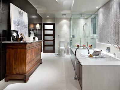 azulejos negros baño