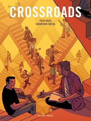 """couverture de """"CrossRoads"""" de Paco Luca et Seguridad Social chez Delcourt"""