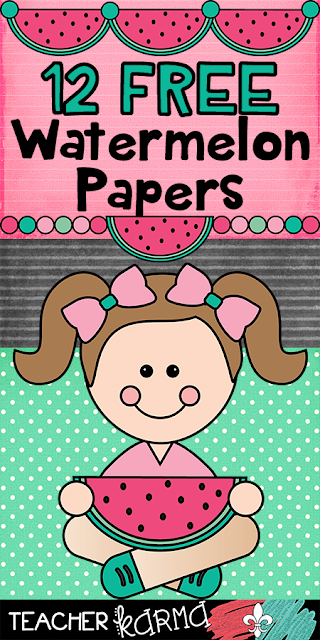 watermelon digital papers TeacherKarma.com