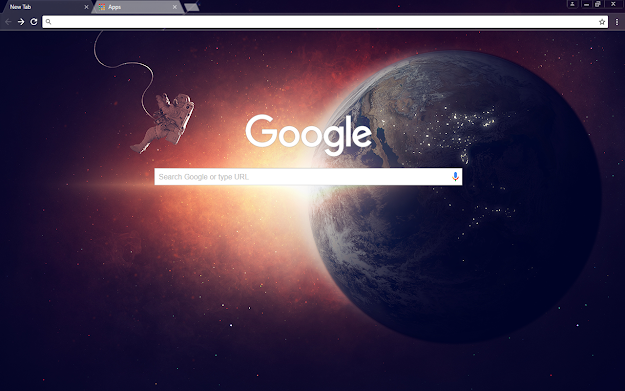 Lone Space Google Theme