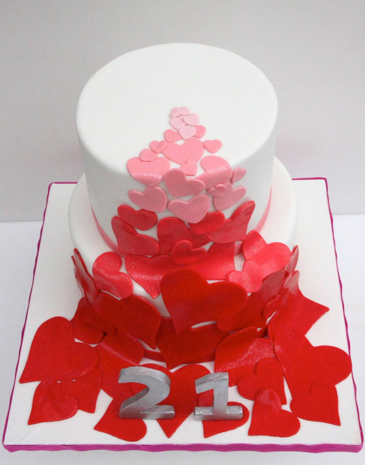 Celebrate With Cake Hearts Birthday Cake