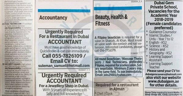 gulf news classified latest jobs in uae