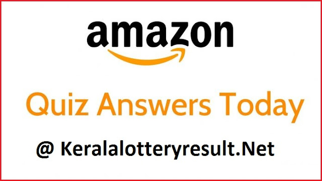 Amazon Quiz Today 18 April 20 Answers @ keralalotteryresult.net