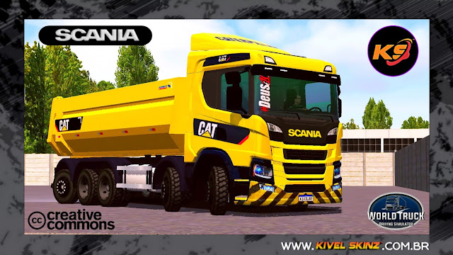 SCANIA P320 CAÇAMBA - CATERPILLAR
