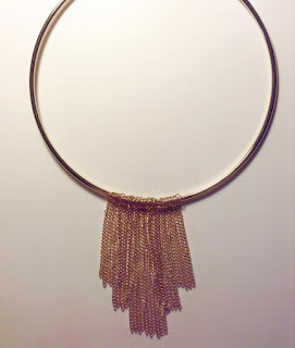 Walmart gold chain fringe necklace