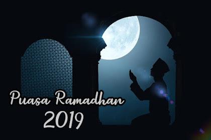 tanggal berapa dan kapan awal puasa ramadhan 2019 di Indonesia