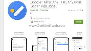 Google Tasks in Google Playstore