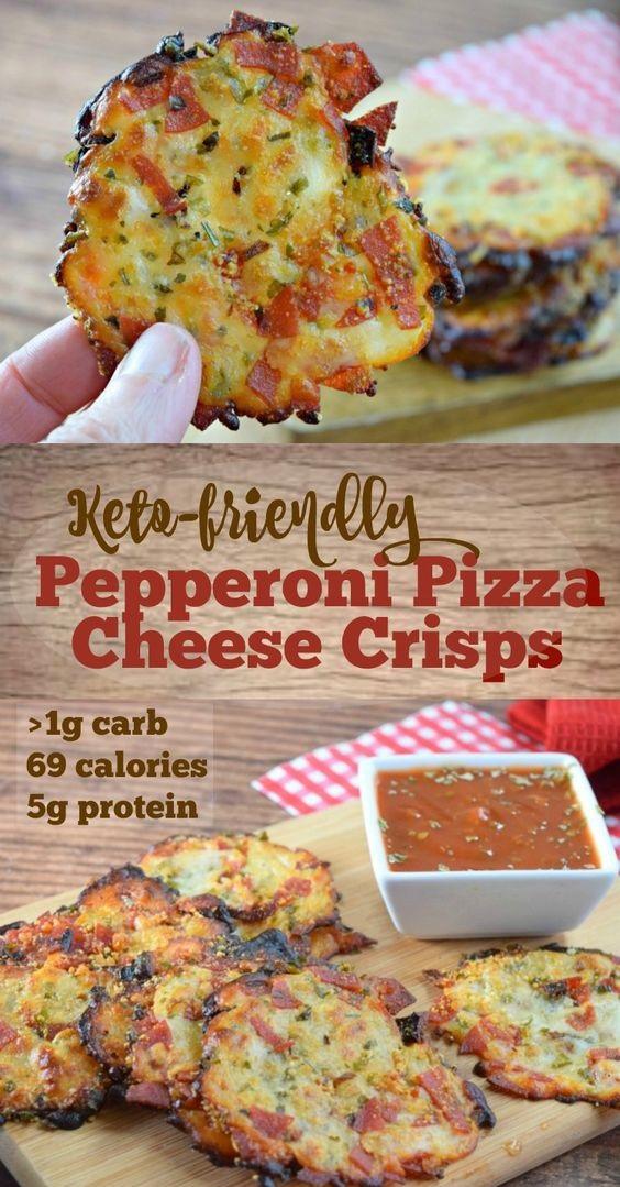 Pepperoni Pizza Cheese Crisps Recipe