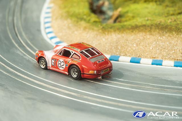 h0 Slot Car Porsche 911S Kremer Racing mit dem komplett überarbeiten Heck