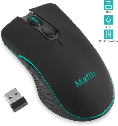 Review Mafiti Backlit RGB Wireless Rechargeable Mouse