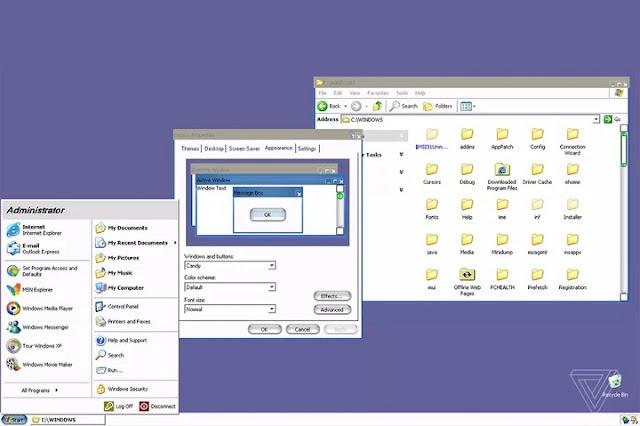 Ternyata Windows XP Punya Tampilan Rahasia Mirip Mac