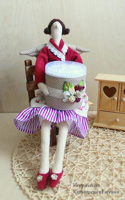 Хранительница ватных палочек, тильда, тильда хранительница ватных палочек, ватные палочки, тильда ангел, тильда фея, ангел, фея, интерьерная кукла, кукла тильда, подарок