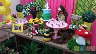 Decoração festa infantil Masha e o Urso