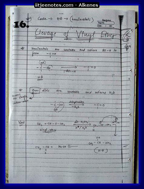 Alkenes Notes6