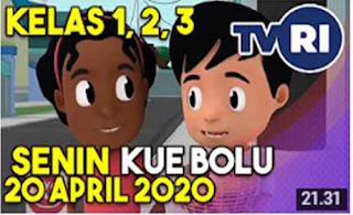 Belajar Dari Rumah Di TVRI tanggal 20 april Kue Bolu