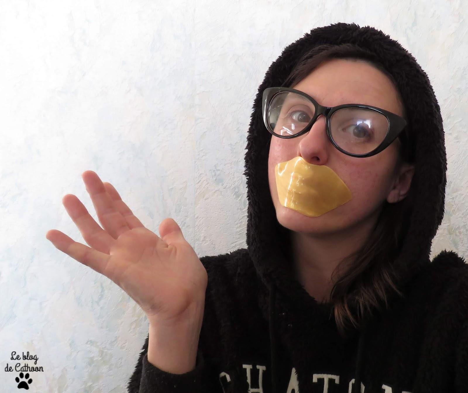 Gold Lip Mask - Masque Lèvres Doré - Action