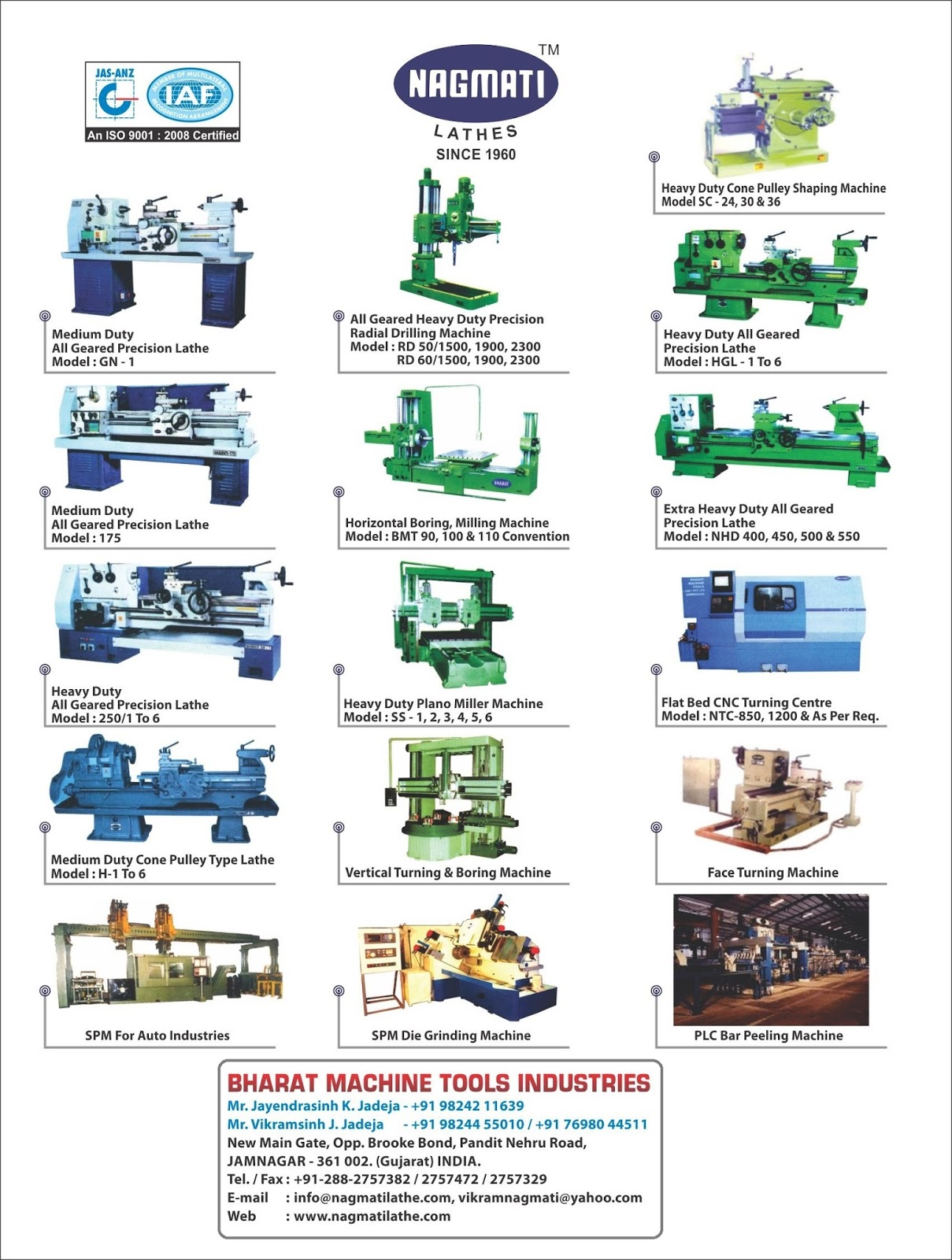 BHARAT MACHINE TOOLS INDUSTRIES - 9824455010