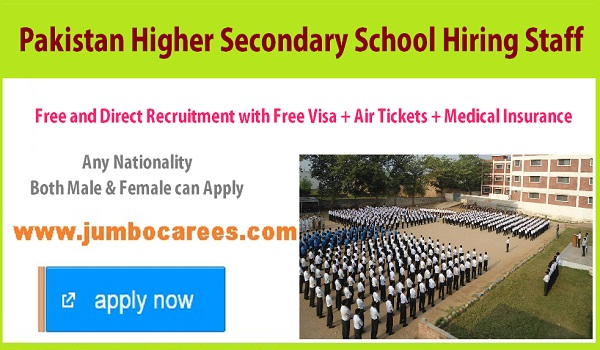 Pakistan school jobs in RAK, Current school jobs in RAK with Air ticket,