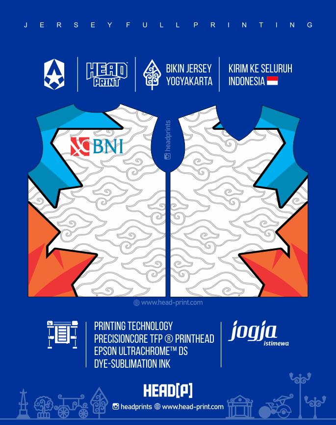Bank BNI Jersey Volly Volley Contoh Desain Jersey Voly - Badminton Jersey - Futsal Jersey - Headprint Yogyakarta