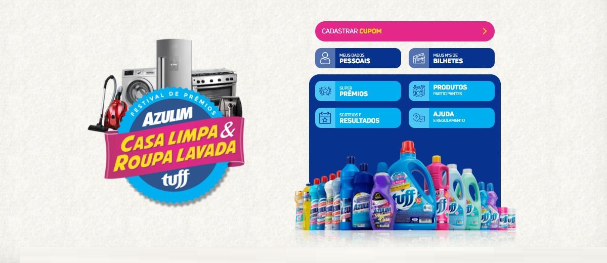 Promoção Azulim e Tuff 2020 Casa Limpa e Roupa Lavada - Cadastrar Start Química