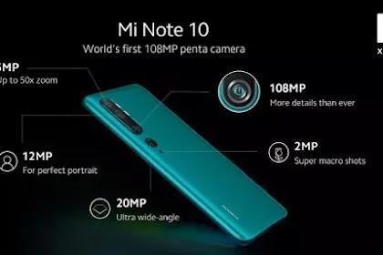 Xiaomi Mi Note 10 Pro Resmi Rilis di Indonesia