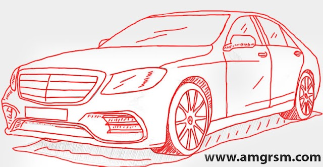 How to Draw Mercedes-Benz S-Class W222 Step by Step