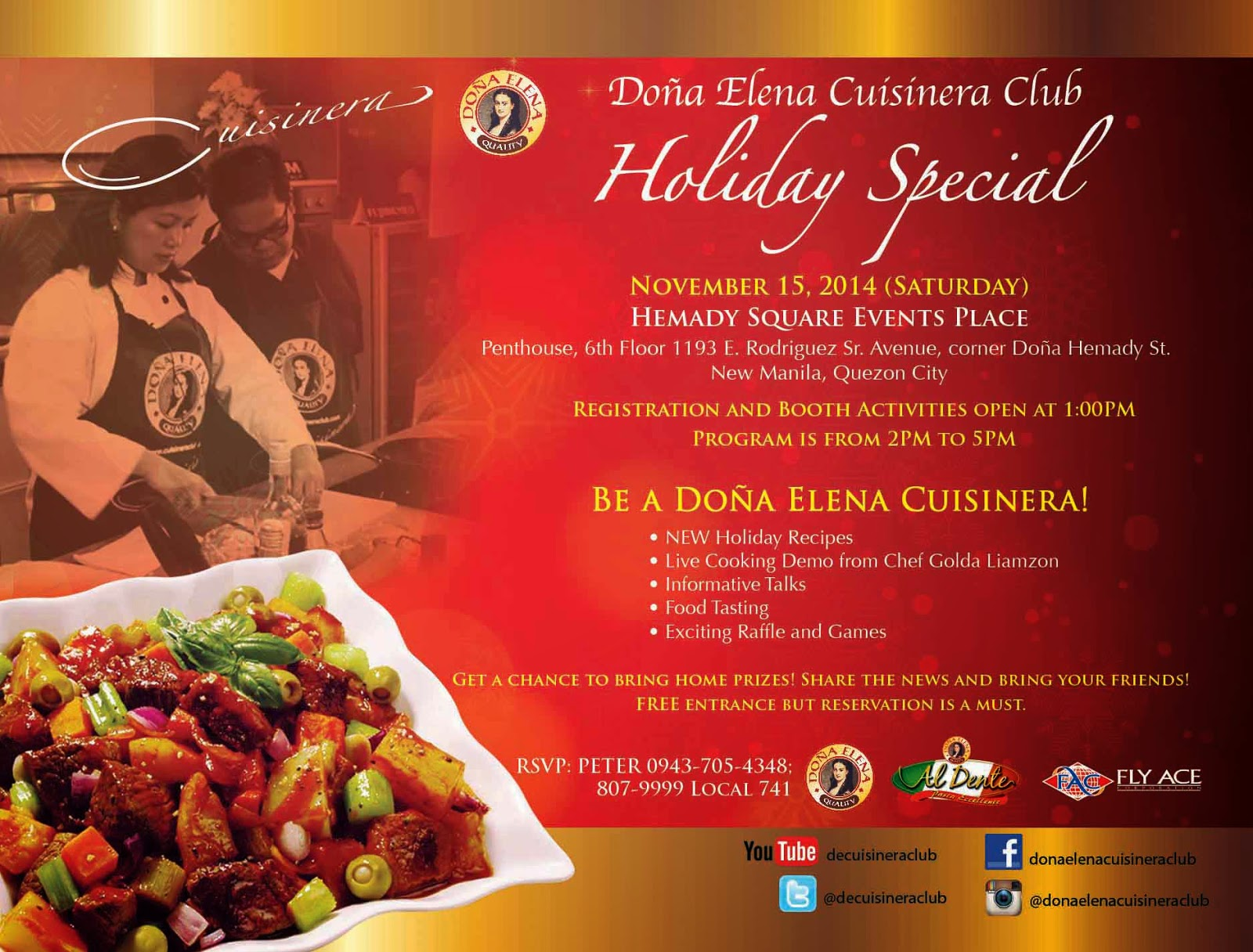 Celebrate The Holiday Season With Dona Elena Al Dente