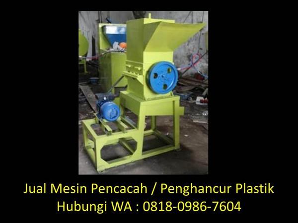 manfaat mesin pencacah plastik di bandung