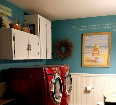 Laundry Room Christmas Make Over Adventure