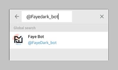 Tìm kiếm @fayedark_bot Trên telegram