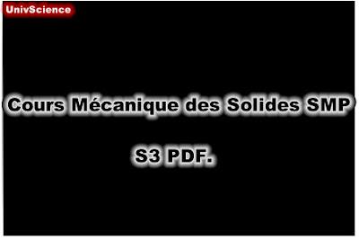 Cours Mécanique des Solides SMP S3 PDF.